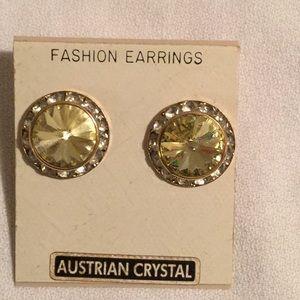 💃Austrian Crystal Pierced Earrings Sparkle 💃